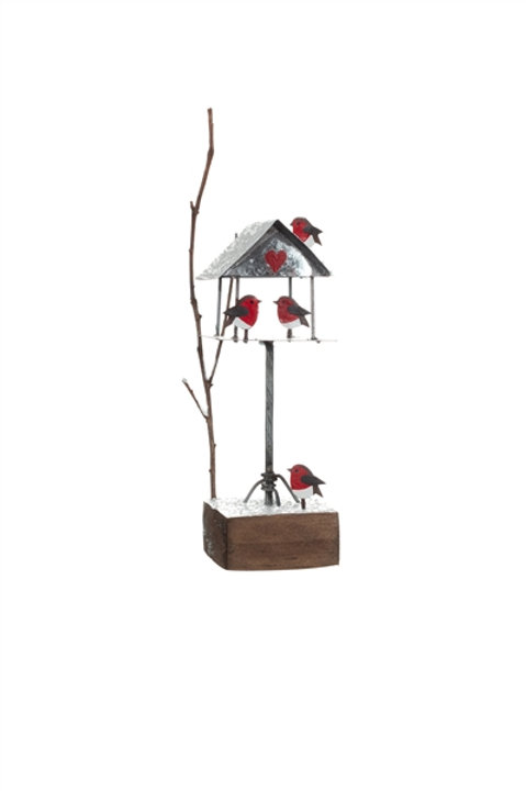 Robin Snowy  Bird Table