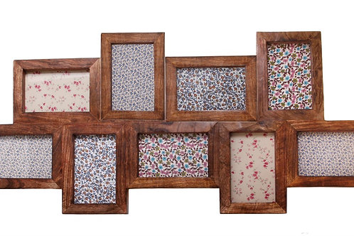 Multi Photo Frame Wood IN STORE ONLY