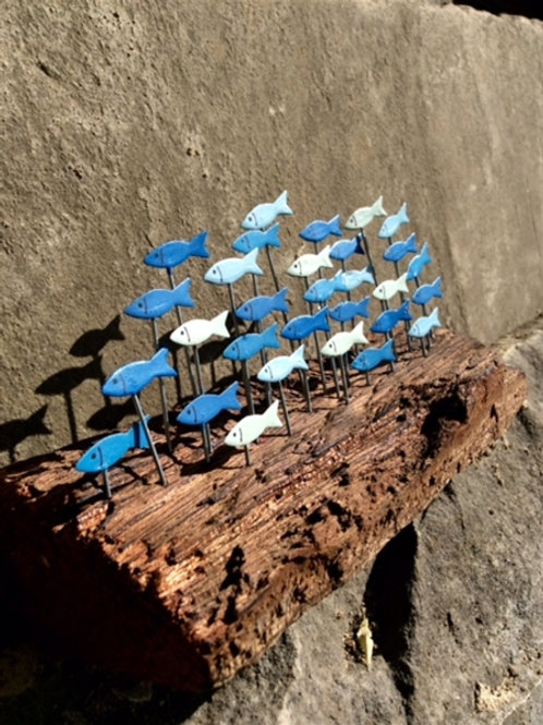 School of Fish on a Driftwood Base