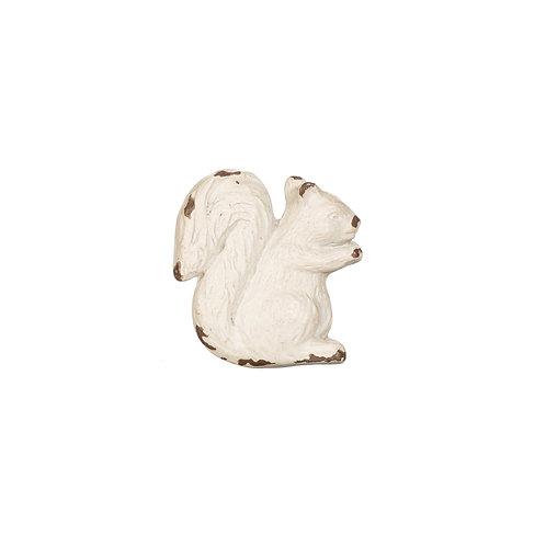 White Squirrel Antique Effect Drawer Knob