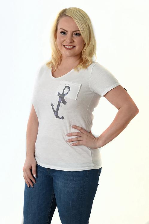 Anchor T Shirt - White