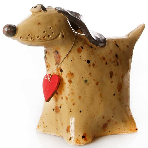 Ceramic Greyhound Dog -Cream