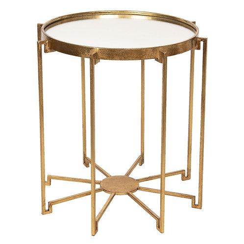 Burnished Gold Effect Art Deco Side Table
