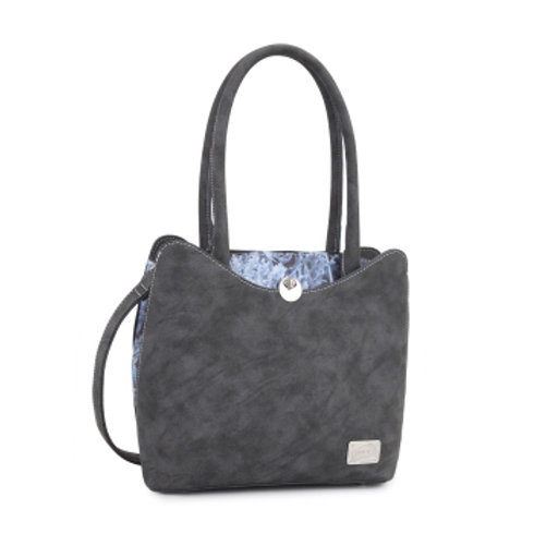 Grey Matching Fabric Shoulder/ Handbag Bag