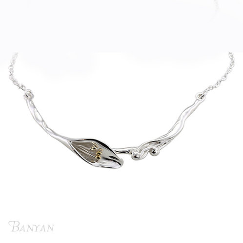 Delicate Single Lily Necklace