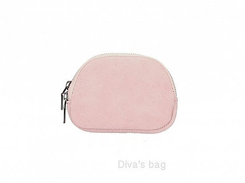 Dusty Pink- Suede Italian Leather Pouch