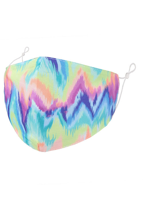 Face Mask  -Zig Zag Tie Dye