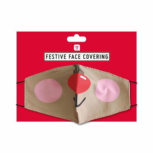 Face Mask - Reindeer Rudolf