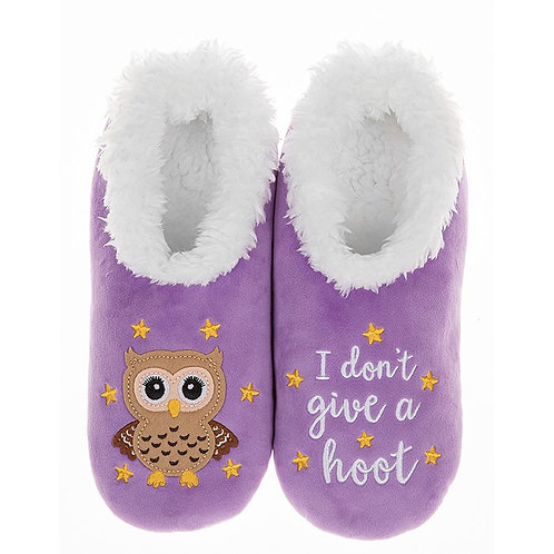 Slippers - Dont give a hoot - Med