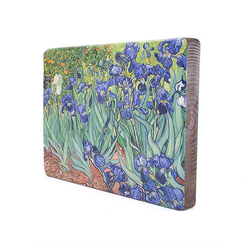 Irises, Vincent van Gogh -Old Masters Wood block Painting