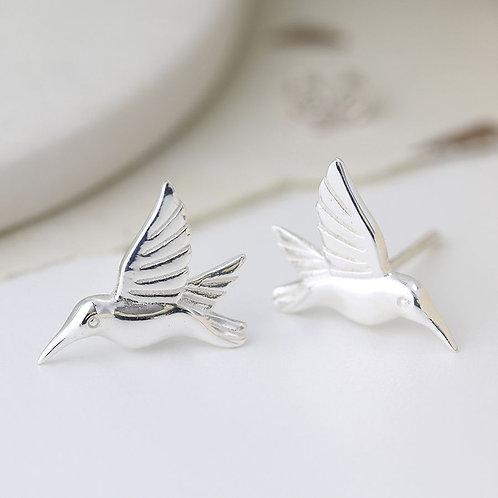 Sterling silver bird in flight Earrings
