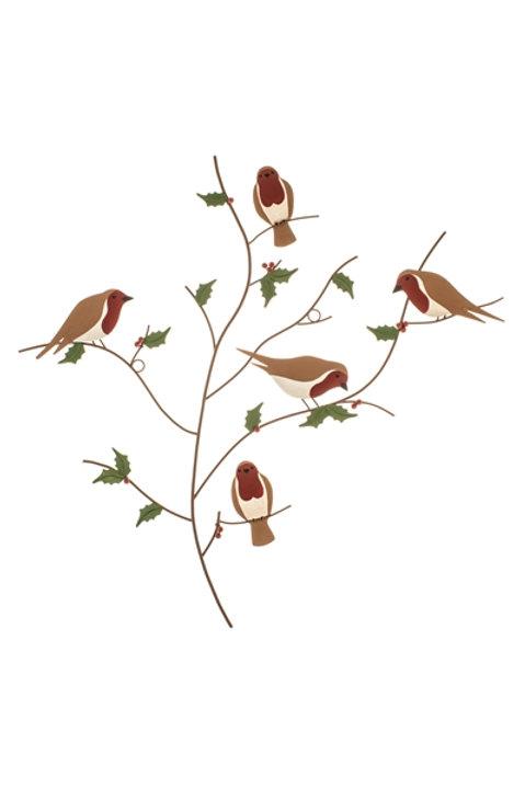 Five Robins in a Tree Wall Art