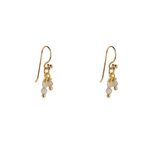 Labradorite  Sterling Silver Delicate Drop Earrings