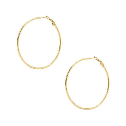 Large Simple Hoop Earring -Gold