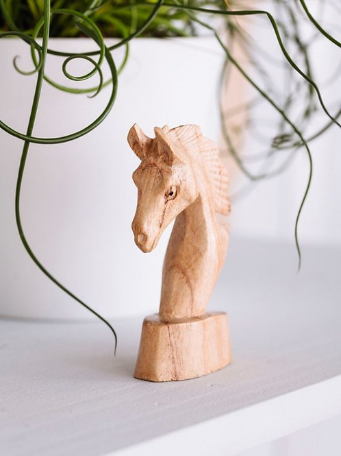 Parasite Wood Horse Head - Small