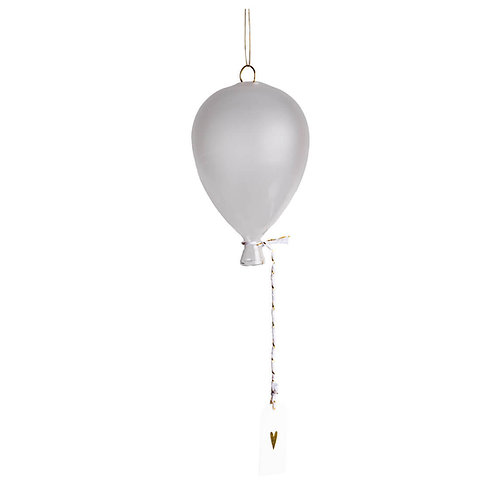 Frosted Glass Balloon with a Heart