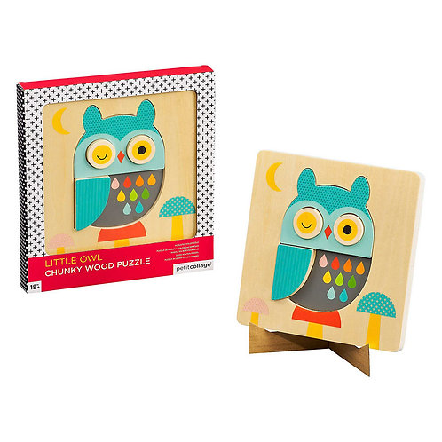 Little Owl Chunky Wood Puzzle (18months+)