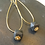 Thumbnail: Drop earrings with small hexagonal concrete cube
