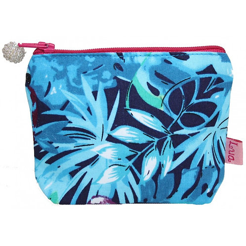 Mini Zipped Purse - Parrots