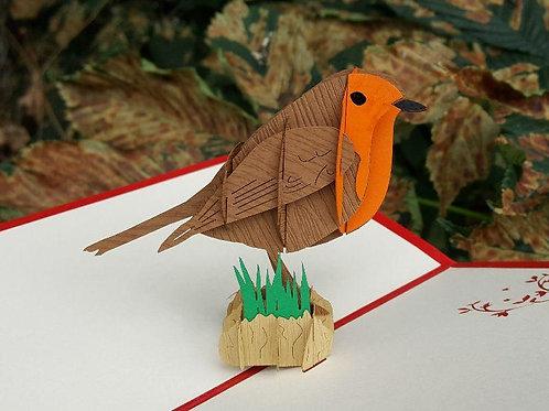 Pop Up Card - Robin
