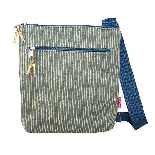 Small Messenger Bag -Mustard Stripe
