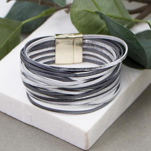 Multi strand simple metallic PU cuff