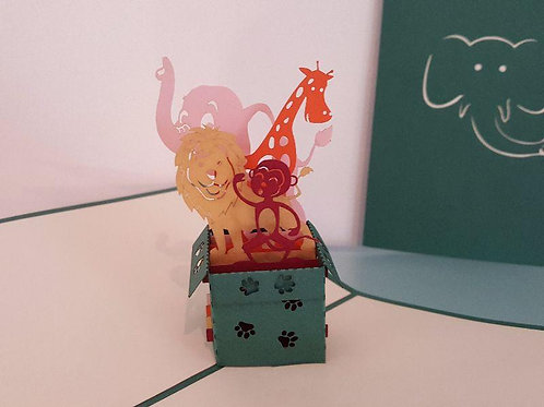 Pop up Card - Zoo in a Box