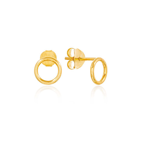 18ct Gold Vermeil Halo Circle Studs