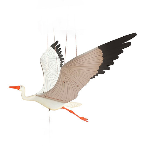 Stork- Handcrafted flying mobile - Fair Trade