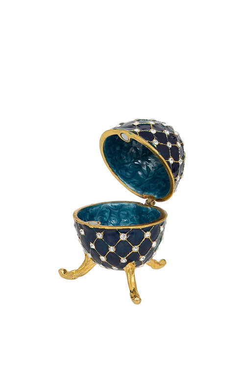Trinket Box - Blue Egg