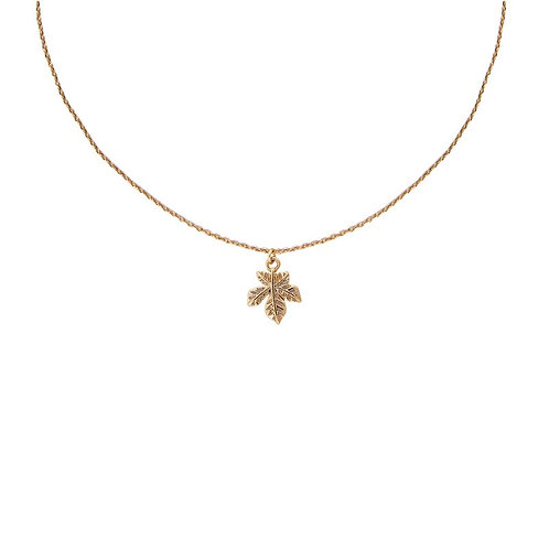 Gold  plated leaf delicate pendant