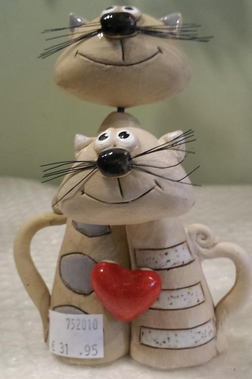 Ceramic Hugging Cats
