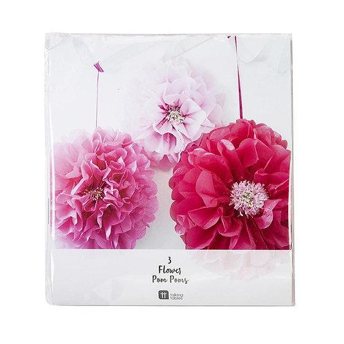 Decadent Garden Pink Flower Pom
