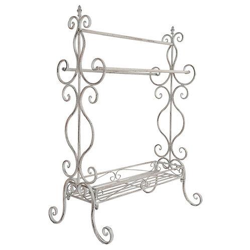 White Iron Decorative Towel Rail