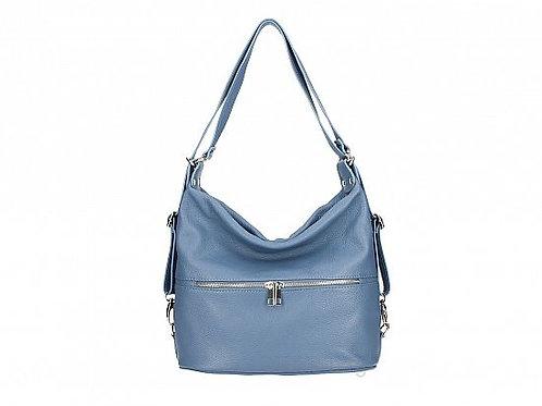 Cerulean Blue Shoulder &  Backpack  - Italian Leather