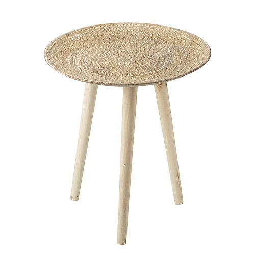 Wooden Three Leg Table  IN STORE ONLY