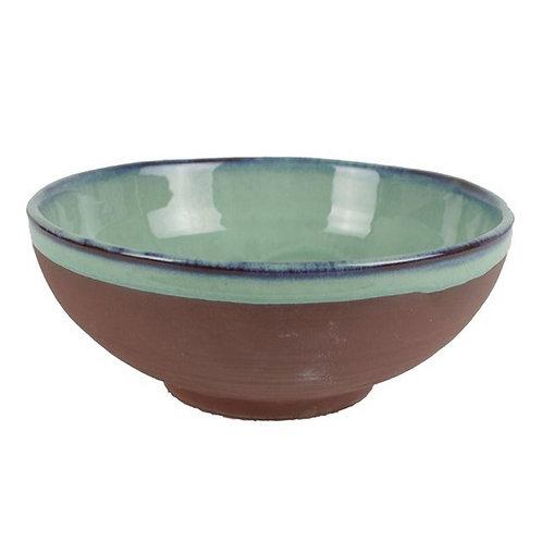 Aqua- Medium Ceramic Rustic Bowl