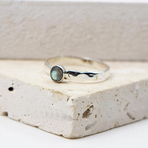 Sterling Silver Labradorite Ring - Size 8