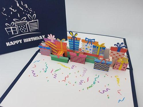 Birthday Present Pop Up Card