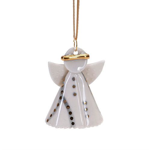 Grey Hanging Ceramic Angel Holly
