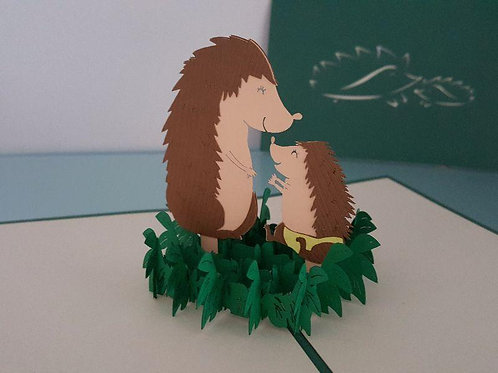 Pop up Card - Hedgehog Pair