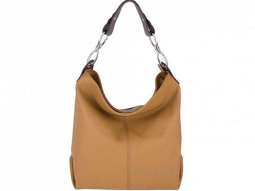 Cognac Shoulder Bag with Long Strap