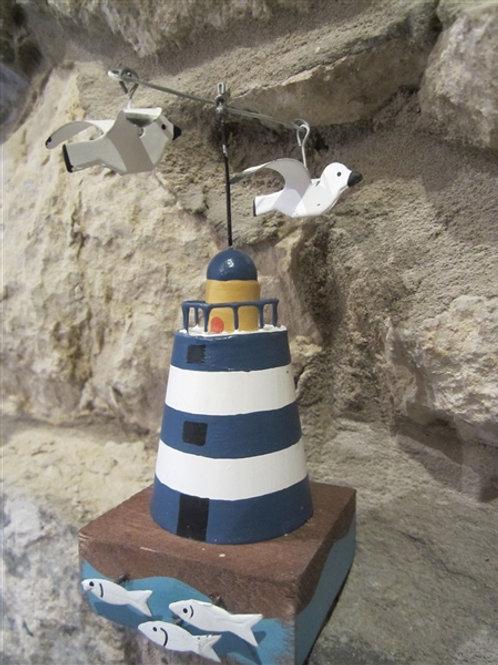 Kinetic lighthouse - blue