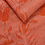 Thumbnail: A lightweight coral and pink tropical florals scarf