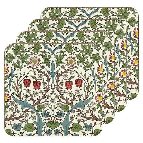 Blackthorn Coasters set of 4 - William Morris