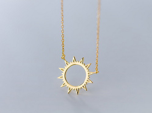 Sunshine Sterling Silver Gold Plated Pendant