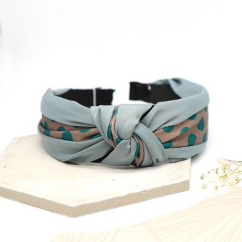 Headband - Teal Spotty