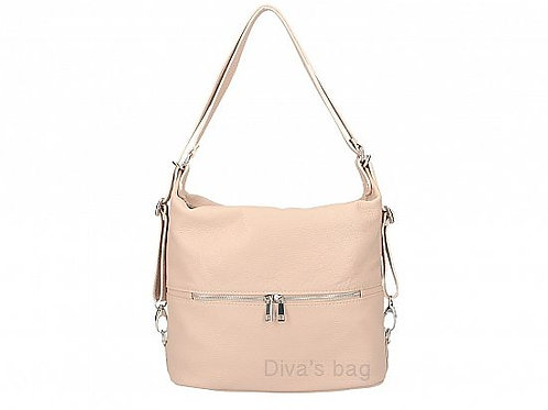 Dusty Pink Shoulder & Backpack  - Italian Leather