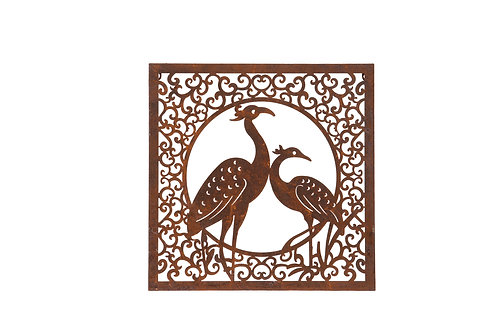 Peackock Wall Plaque  IN STORE ONLY