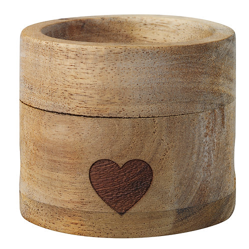 Heart Wood Egg Cup and Spoon